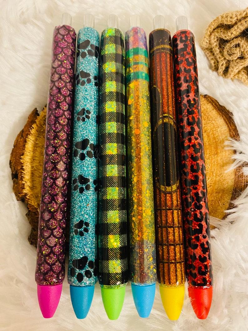 Personalized Glitter Bling Gel Pens Custom Epoxy Pens