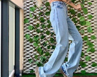 Wide leg jeans, high waisted pants, Vintage High Waisted Wide Leg Baggy Pants, Women Aesthetic Trousers, Baggy Jeans, Palazzo Jeans, Palazzo