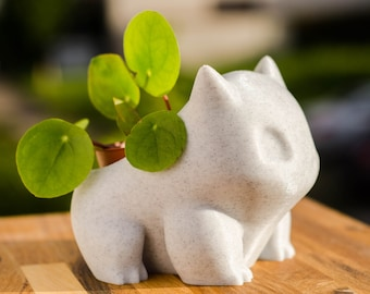 Bulbasaur planter / pokemon pot ornament 3d printed