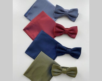 Bow tie and handkerchief, gift for men