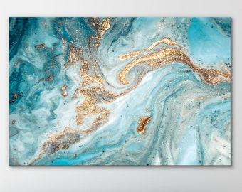 Turquoise Canvas Art Etsy