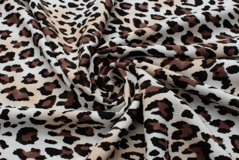 Personalized tracksuit Viscose linen animal leopard print Fleece fabric Washable Polyester fabric tracksuit