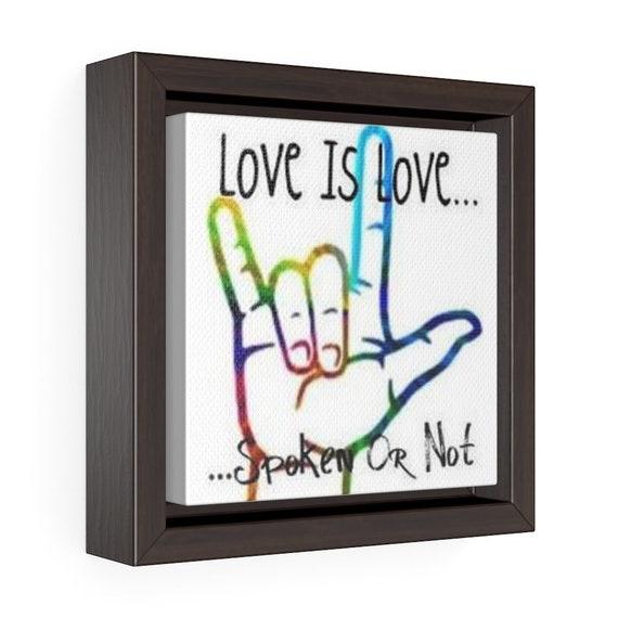 I Love You Hand Symbol Canvas