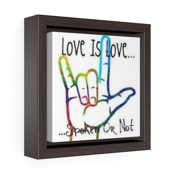 I Love You Hand Symbol Canvas