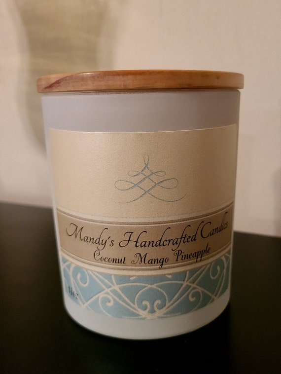 14oz matted white Handcrafted Scented Candles.