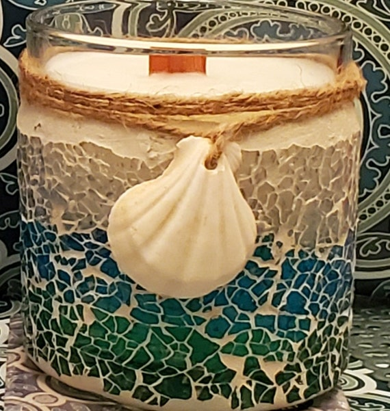 12OZ Beach Shell Candles