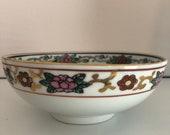 Rare Gold Imari Hand Painted Porcelain Bowl