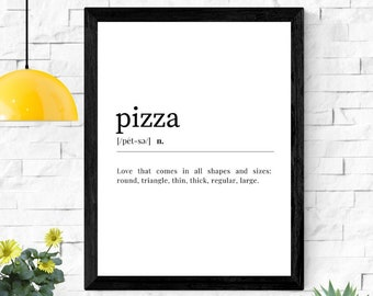 Pizza Makes Me Happy Wall Art Frame Poster STP271