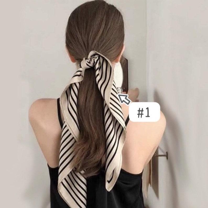 Silk hair scarves | Silk scarf | Satin hair scarf | Twilly scarf | Twilly cloth | Twilly in Germany