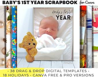 First Year Scrapbook Etsy