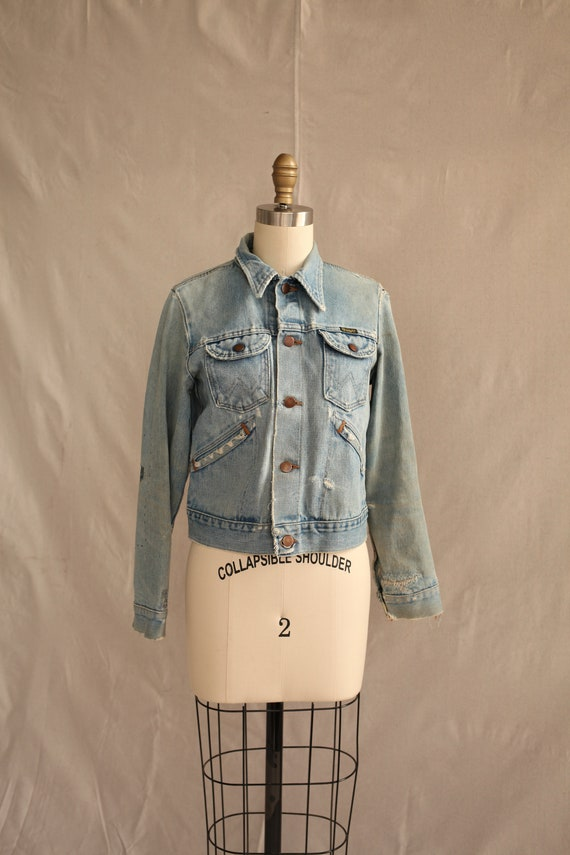 70's wrangler jean jacket Sashiko Denim Repaired s