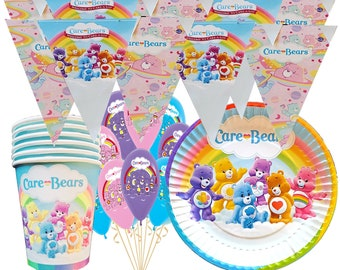 NEW CARE BEARS  1 LONG PARTY SUPPLIES HAPPY BIRTHDAY BANNER  5 FT