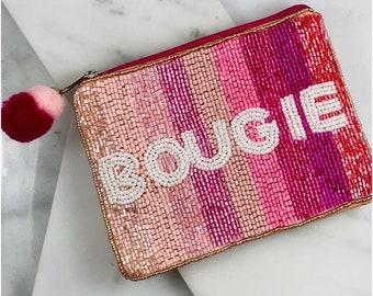 Bougie beaded change purse- unique coin purse- wallet