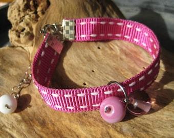 Boho summer bracelet with torch spun glass beads Summer bracelet Murano Bijou glass beads for women Lampwork jewelry