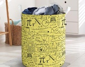 Maths Laundry Basket Collapsible Waterproof Laundry Basket Clothes Storage With Handles Toys Bin Basket For Bathroom Toys Room Nursery