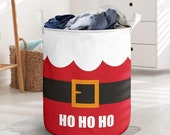 Santa Suit Laundry Basket Collapsible Waterproof Laundry Basket Clothes Storage With Handles Toys Bin Basket For Bathroom Toys Room Nursery