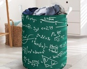 Math Formula Laundry Basket Collapsible Waterproof Laundry Basket Clothes Storage With Handles Basket For Bathroom Toys Room Nursery
