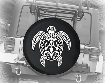 Spare Tire Cover Waterproof Universal Wheel Tire Cover Protector RV Cool Sea Turtle Swim Art Fit for Jeep,Trailer SUV and Many Vehicle 4