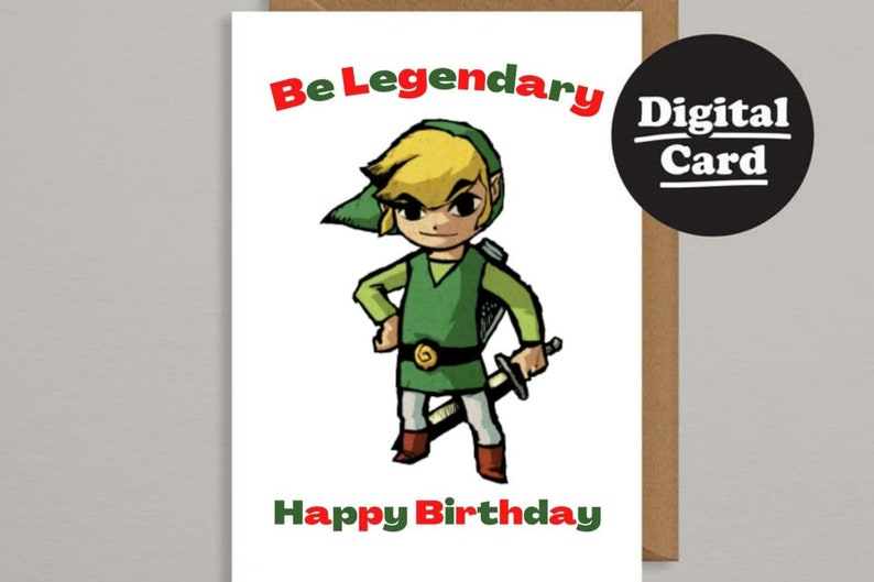 Print At Home Be Legendary ECard Downloadable Birthday Card Digital Birthday Card Printable Birthday Card Instant Download