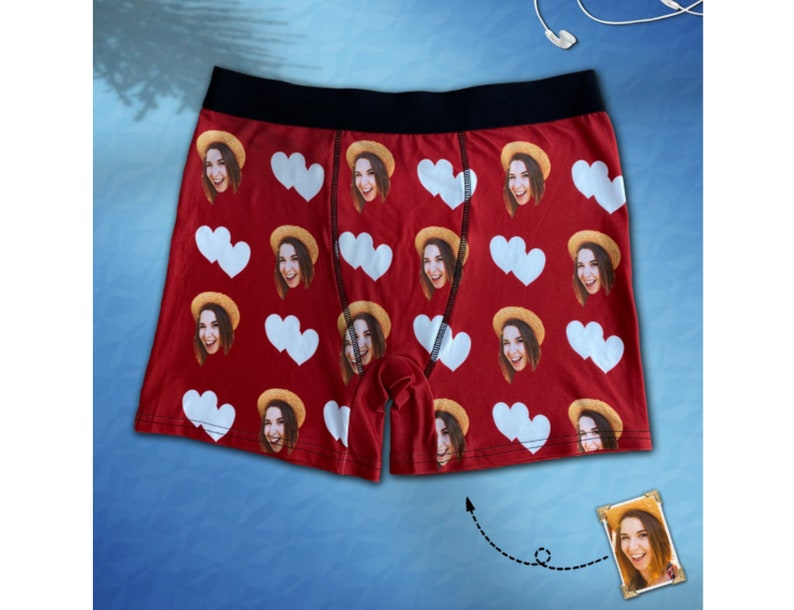 Custom Men/'s Boxer Briefs Girlfriend Face Personalized Funny in Case of Fire Shorts Underwear for Valentine/'s Day Birthday Anniversary Gift