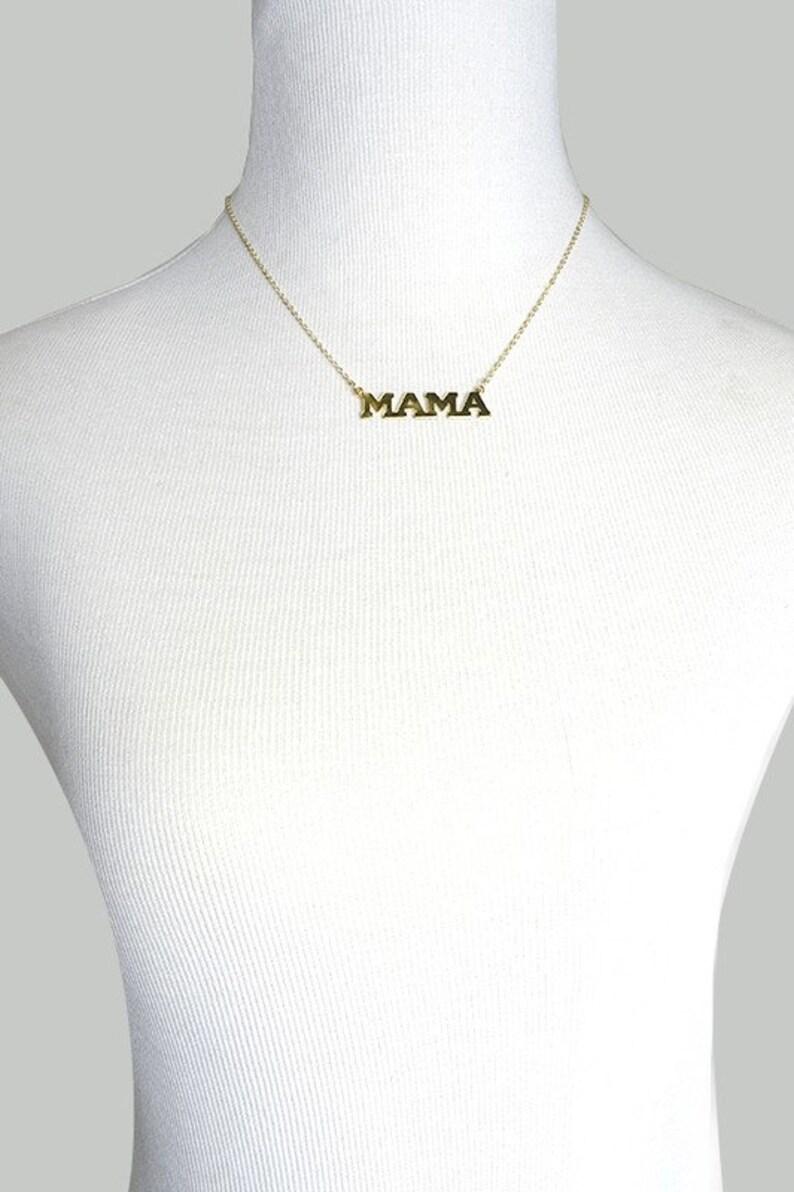 Dainty Mama Necklace Dainty Necklace Dainty Custom Jewelry Dainty Jewelry Necklace for Mom