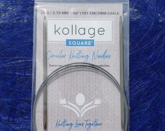 Kollage 60'' circular knitting needles with firm cable - Ergonomic knitting needles  - Made in North America