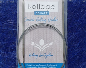 Kollage 47'' circular knitting needles with firm cable - Ergonomic knitting needles  - Made in North America