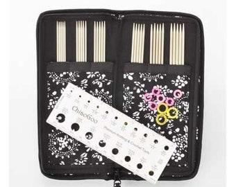 "ChiaoGoo Sock Set Steel  DPN 6""/15cm - Double pointed knitting needles"