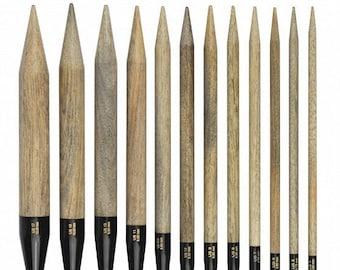 "LYKKE Driftwood 5"" Interchangeable knitting needle tip (pairs)"