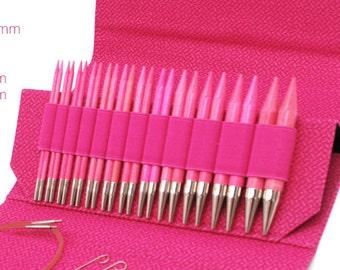 "LYKKE Blush 3.5"" Interchangeable knitting needle tip (pairs)"