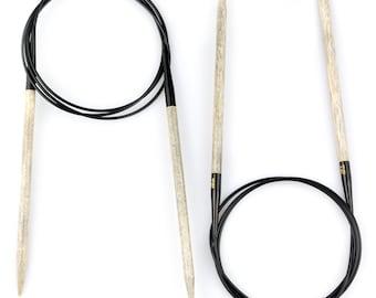 "LYKKE Driftwood 60"" Circular wooden knitting needles"