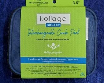 "KOLLAGE  3.5"" Full Interchangeable knitting needle Set"
