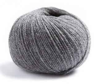 Lamana MILANO Merino superfine & Cashmere yarn - 25gr. - Color Silver Grey (05)
