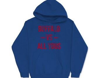 Buffalo Vs All Y/'all Buffalo New York Football Football Fan Southern Slang Youth Tee
