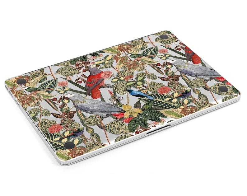 Floral MacBook Pro 16 Decal Bird Parrot MacBook 13 Skin A2338 MacBook 16 Skin MacBook Pro 13 2020 MacBook Air 13 M1 Macbook Retina 13 skin