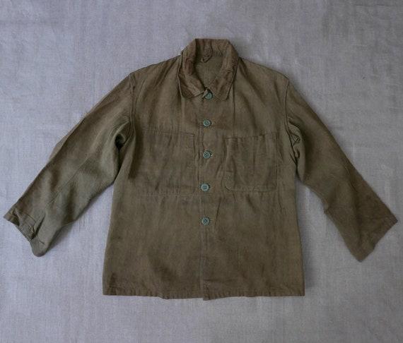 Japanese linen chore jacket