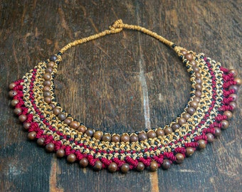 Thick Indigenous Handcrafted Necklace