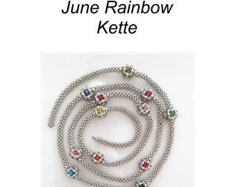 PDF Anleitung Kette June Rainbow