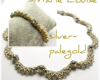 Kit beads Marie Louise silver-palegold
