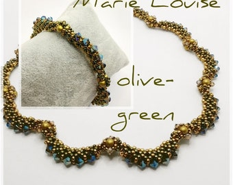 Kit Beads Marie Louise olive-green