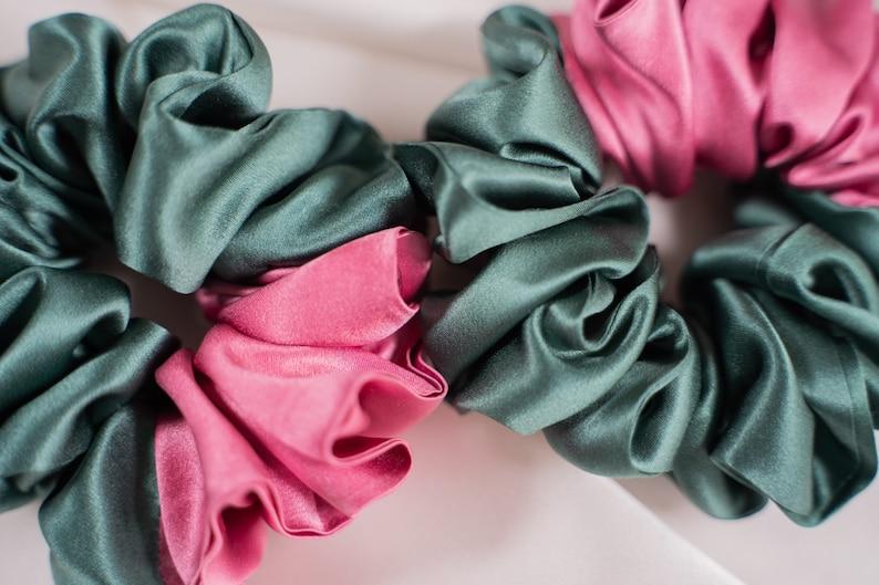 Pure silk hair SCRUNCHIE HANDMADE Italian pure silk.