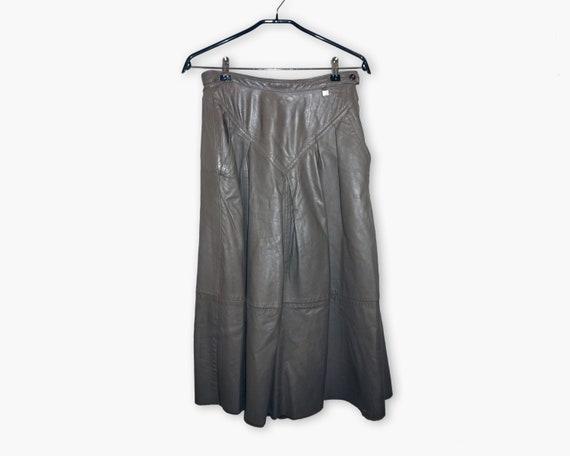Vintage Women Skirt / Leather skirt / Genuine skir