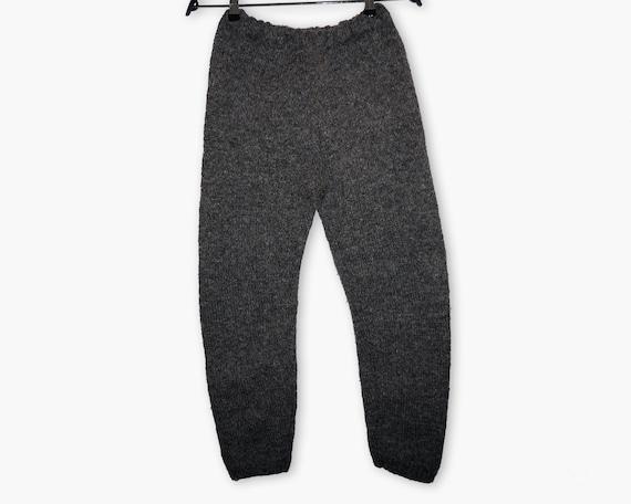 Vintage handmade woolen trousers | Handknitted Woo