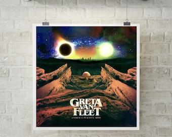 Greta Van Fleet New Custom Art Poster Print Wall Decor