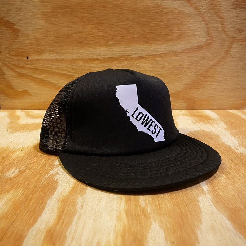 co LoWEST Brand CALIFORNIA trucker hat nm Represent your state. az nv ut ca