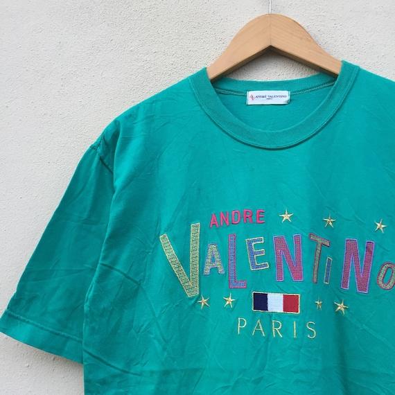 Pick !!! Vintage 90s Andre Valentino Paris T-shir… - image 4