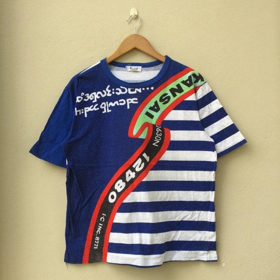 Rare !!! Vintage 90s Kansai Yamamoto T-shirt Kansa