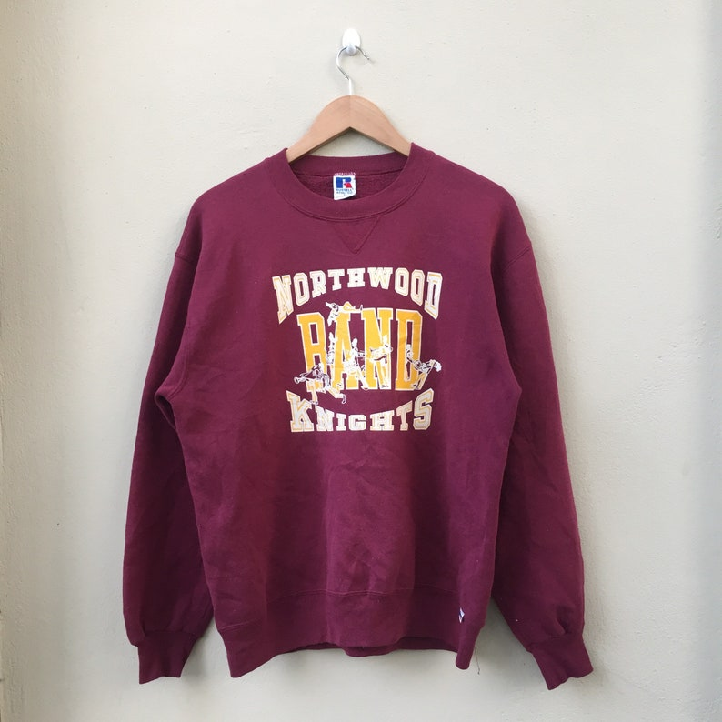 Pick !! Vintage 90s Russell Athletic Northwood Band Knight Sweatshirt Russell athletic Sweater Pullover Russell athletic Crewneck Big logo