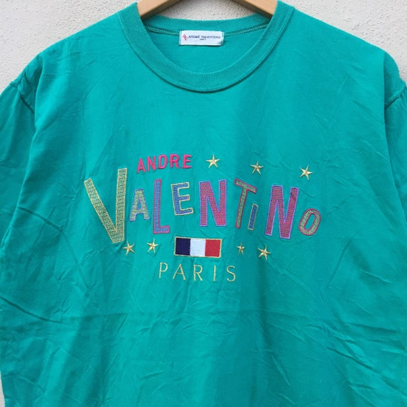 Pick !!! Vintage 90s Andre Valentino Paris T-shir… - image 2