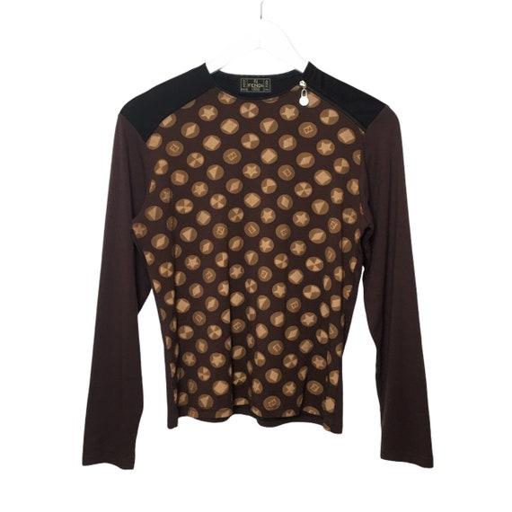 Vintage Fendi Zip Long Sleeve T-Shirt